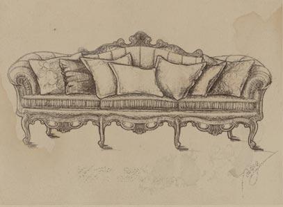 朗思博的设计师手稿图片